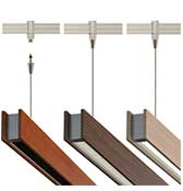 Glide Wood Up - Down Suspension For 2-Circuit Monorail 120V - 12VAC Fixture
