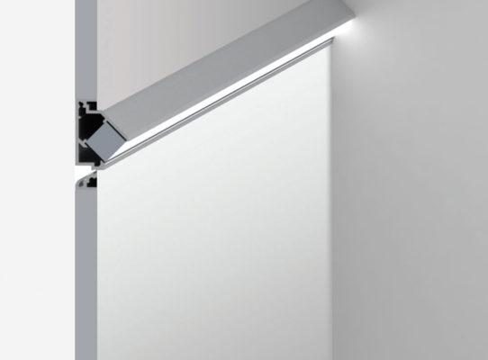 20 Linear Floor Wash Semi-Recessed Plaster Trim