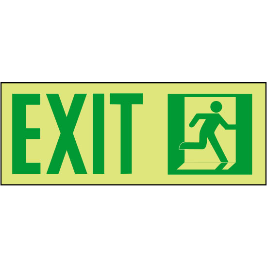 Series 510 Photoluminescent NFPA 170 Emergency Exit Marker