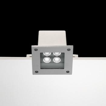 Ara Power LED / 125x125mm - Transparent Glass - 50