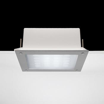 Ara Power LED / 250x250 mm - All Light - Sandlasted Glass