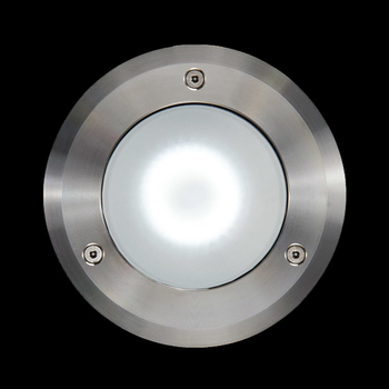Clio / Ø 130mm - Stainless Steel Frame - Sandblasted Glass - Fixed Symmetric Optic
