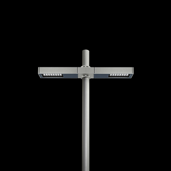Dooku400 Power LED / Pole Ø 76mm - Double Top Pole - Wide Beam 120 (Wide Spaces - Public Areas - Parking Areas)