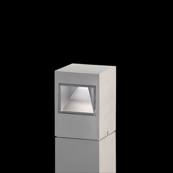 Leo160 on post Power LED / Bidirectional - Transparent Glass