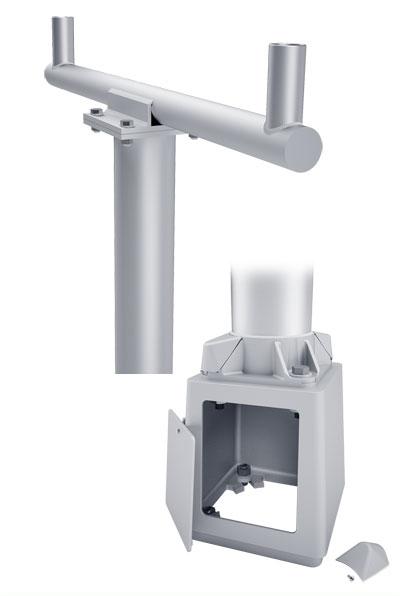 RTA Double Cross Breakaway T-Base Round Tapered Aluminum Pole