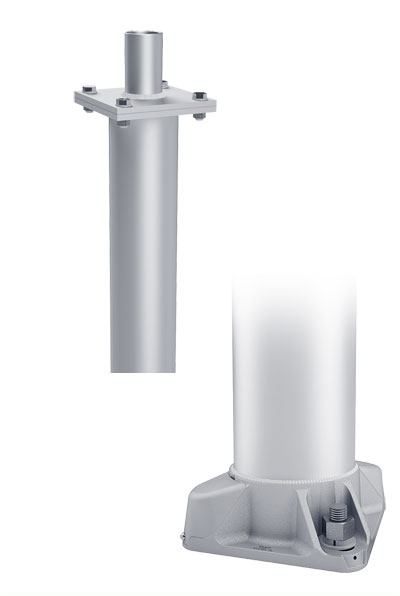 RTA Single Cross 4-Bolt Base Round Tapered Aluminum Pole