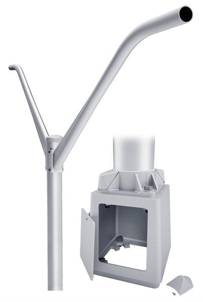 RTA Double Mast Breakaway T-Base Round Tapered Aluminum Pole
