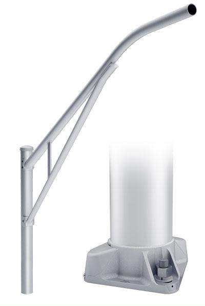 RTA Single Truss 4-Bolt Base Round Tapered Aluminum Pole